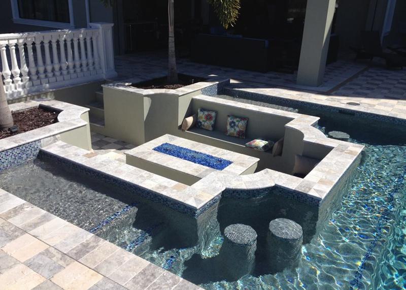 Inground Bar in a Pool