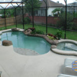Stucco Patio with Pool and Spa