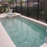 Long Rectangle Pool with Stucco Patio