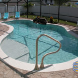 Cement and Stamped Concrete Inground Pool