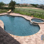 Patio with Custom Pool and Spa
