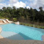 Large Vanishing Edge Pool with Custom Spa