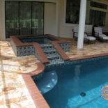 Elegant Tile Design for Pool Area