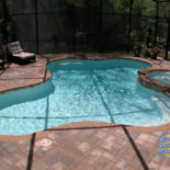 Unique Shape Pool with Nice Patio